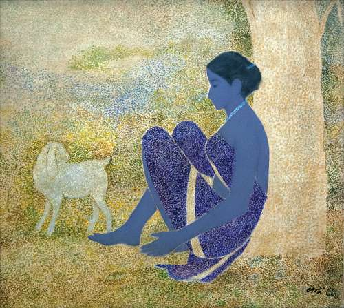 Village Girl with Lamb
