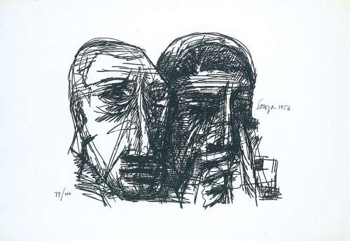 Untitled (Two Heads), 1956