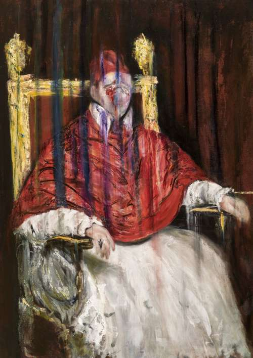 Study after Velazquez, Francis Bacon & Sergej Eisenstein, Pope Innocent X