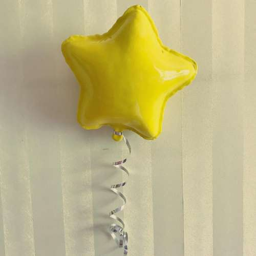 Yellow Star Balloon Sculpture