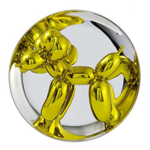 Balloon Dog Plate - Yellow (2015) Edition of 2300